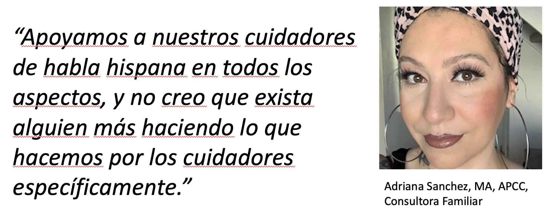 Adriana Sanchez, MA, APCC, Consultora Familiar