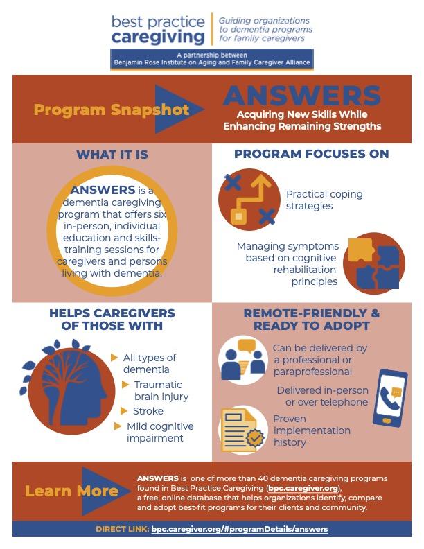 ANSWERS Best Practice Caregiving Program